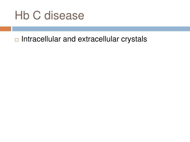 Hb C disease