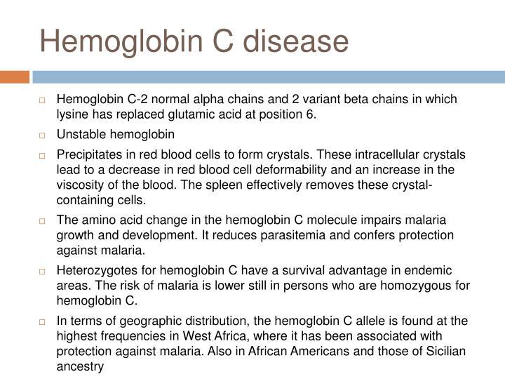 Hemoglobin C disease