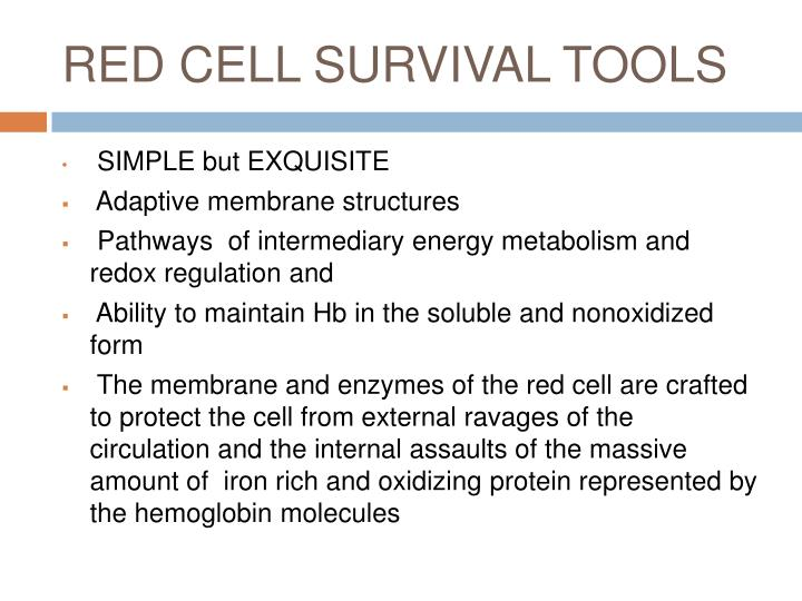 RED CELL SURVIVAL TOOLS