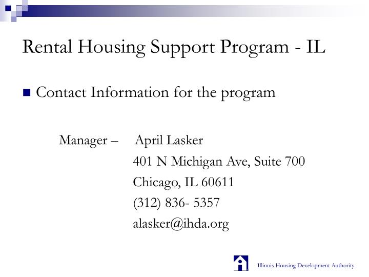 Rental housing support program il