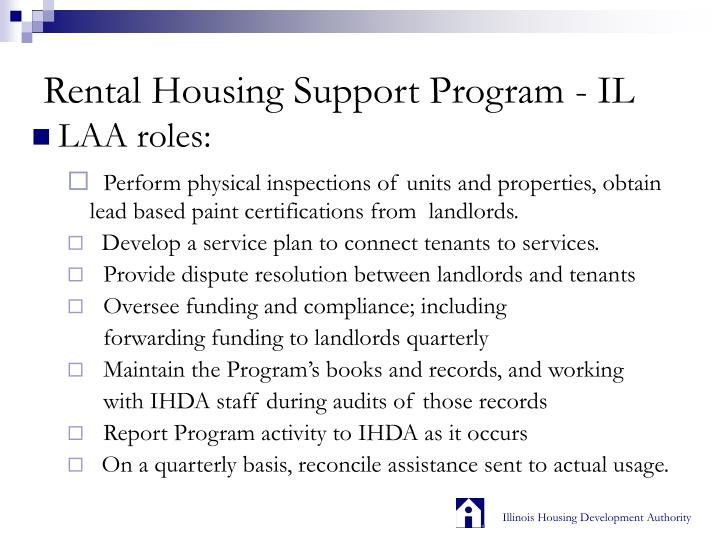 Rental Housing Support Program - IL