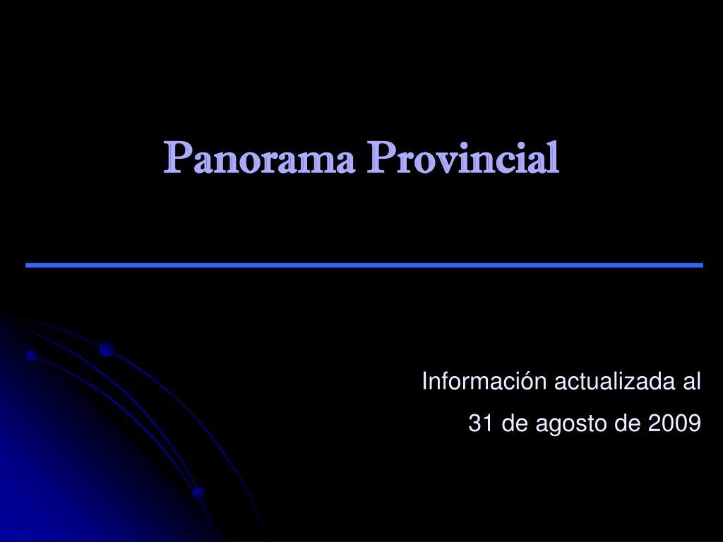 Panorama Provincial