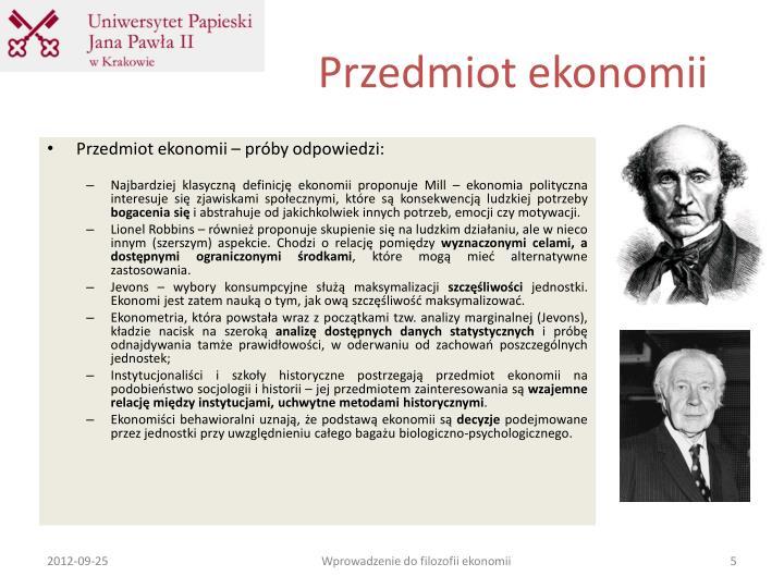 Przedmiot ekonomii