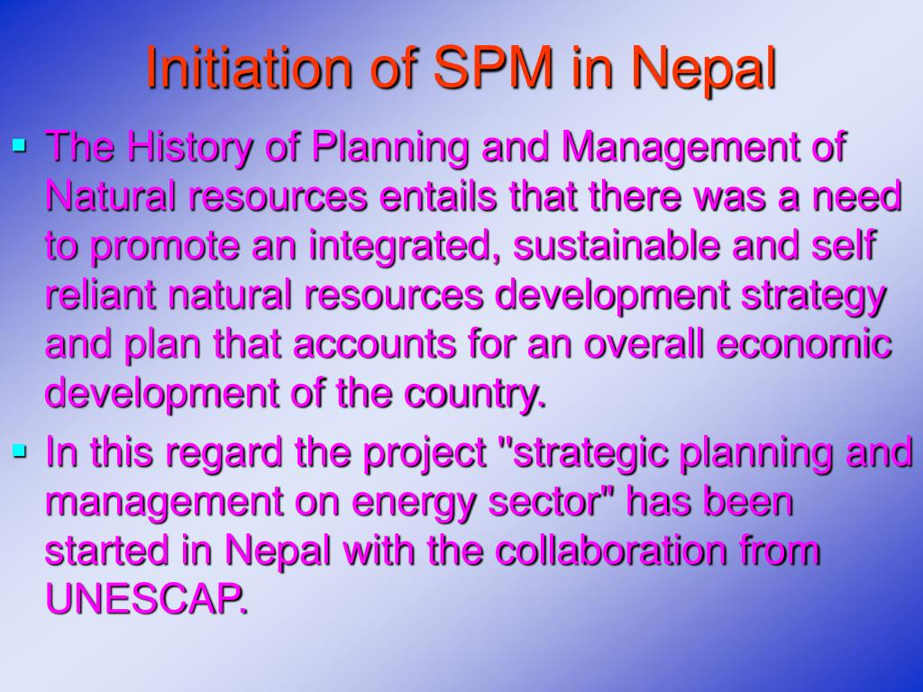 Initiation of SPM in Nepal