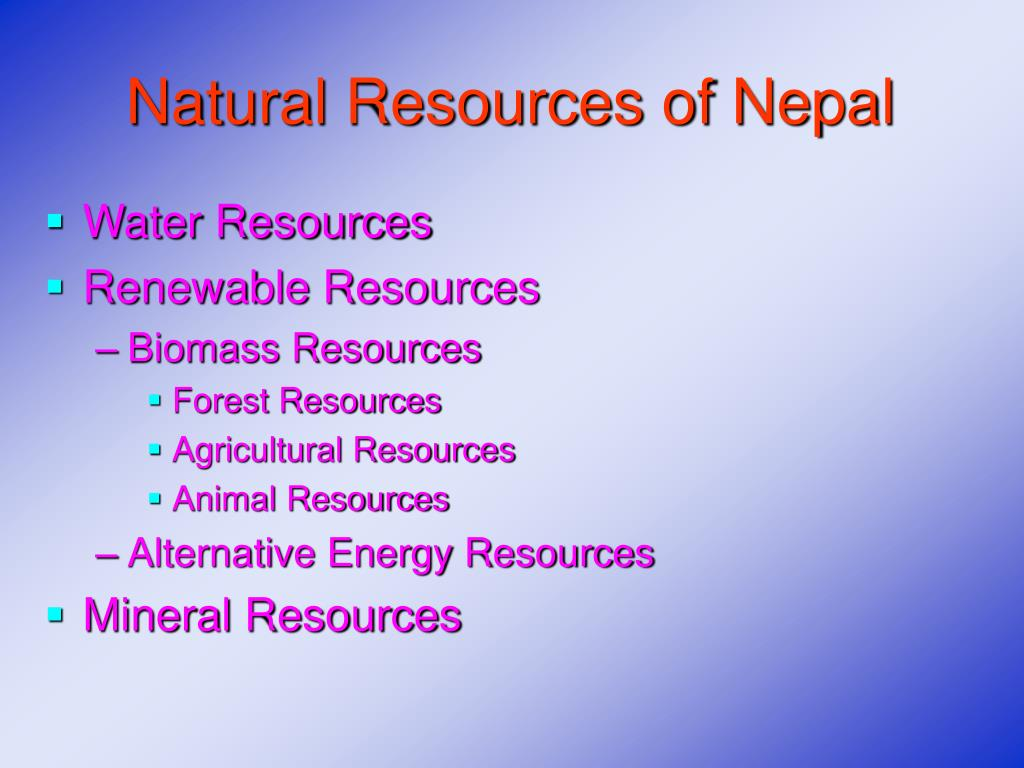 Natural Resources of Nepal
