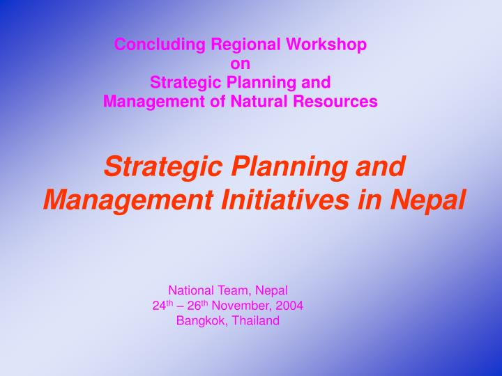 Concluding Regional Workshop