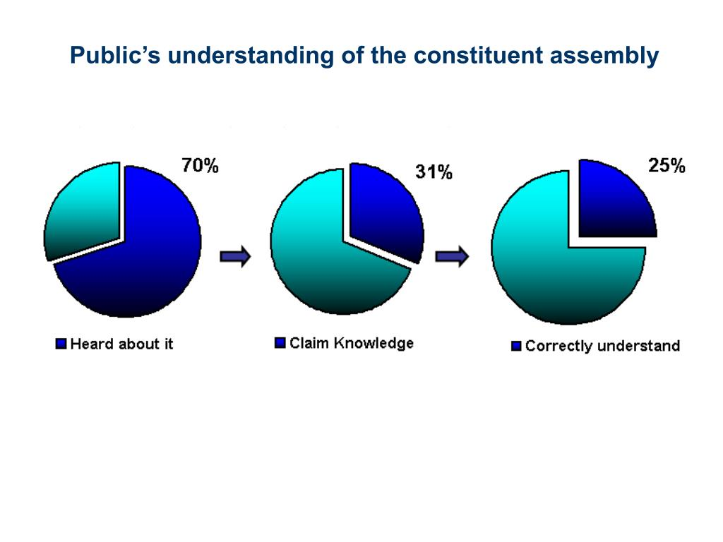 Public's understanding of the constituent assembly