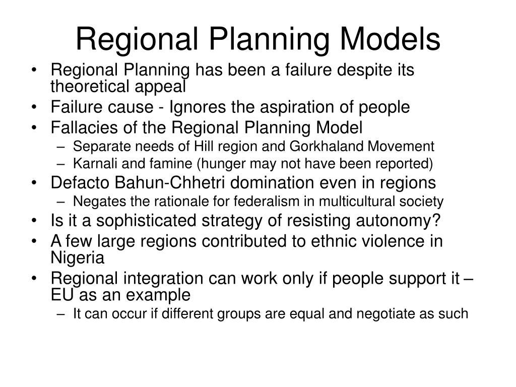 Regional Planning Models