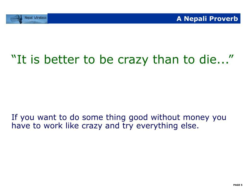 A Nepali Proverb