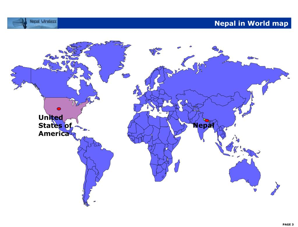 Nepal in World map