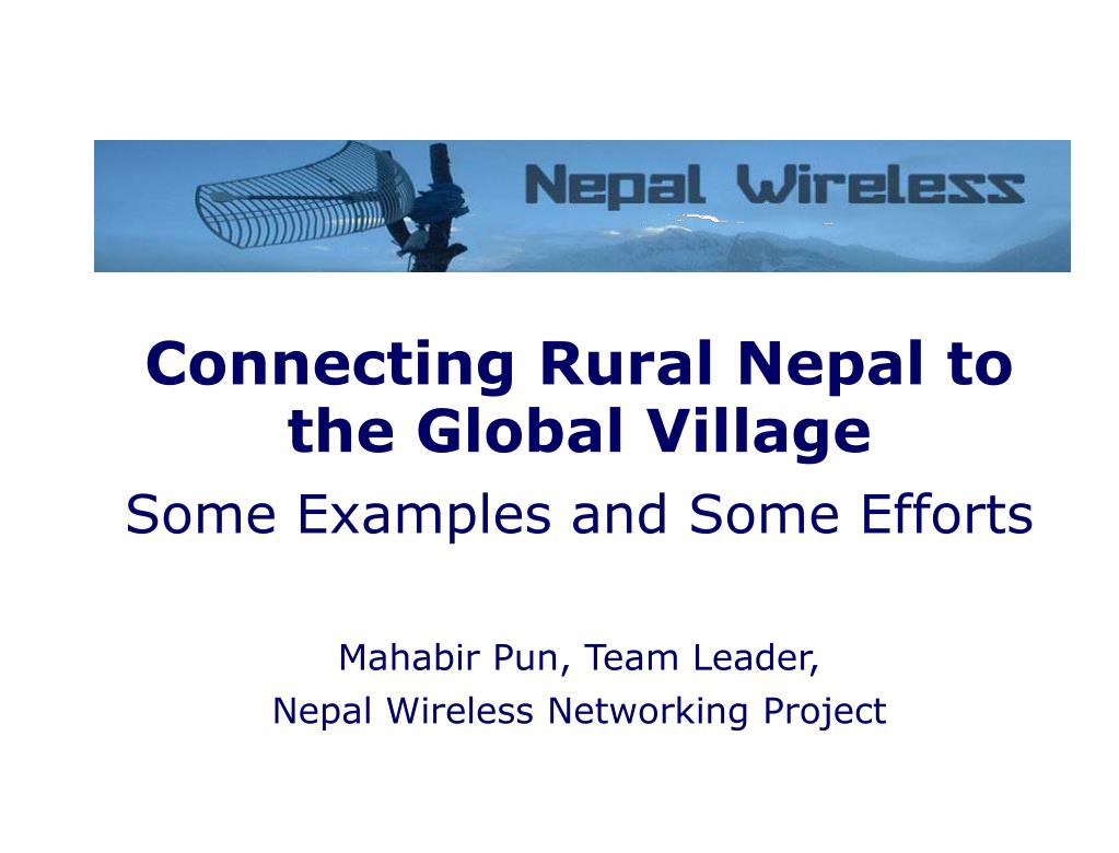 Connecting Rural Nepal to