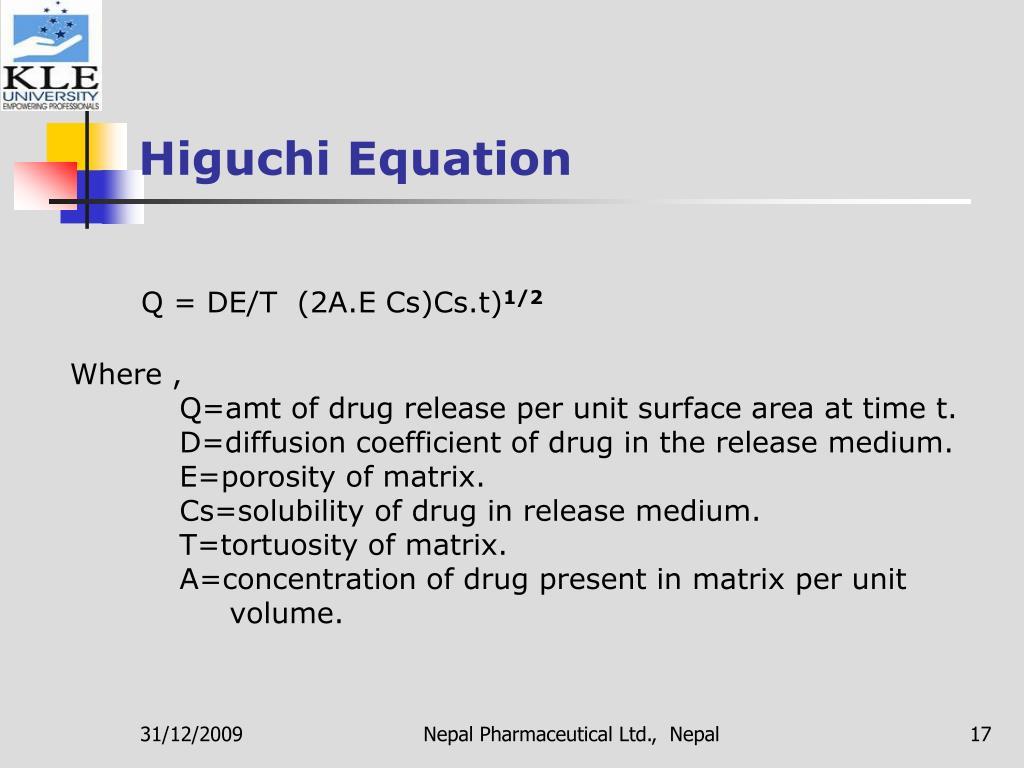 Higuchi Equation