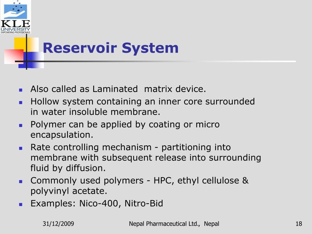 Reservoir System
