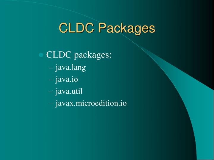 CLDC Packages