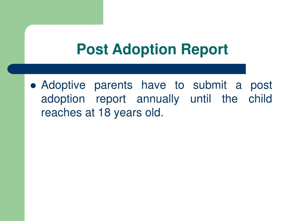 Post Adoption Report