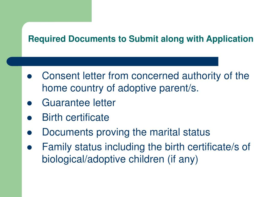 Required Documents to Submit along with Application