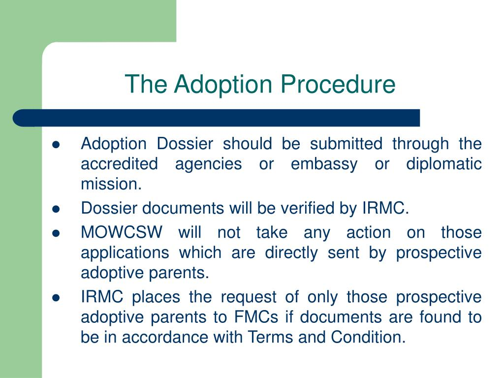 The Adoption Procedure