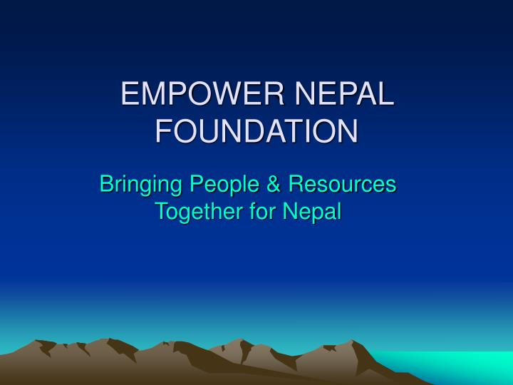 Empower nepal foundation