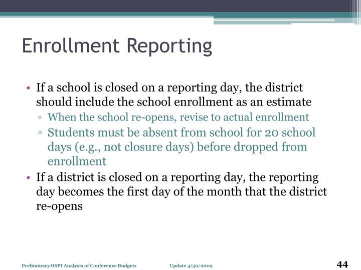 Enrollment Reporting