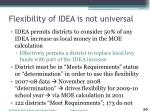 flexibility of idea is not universal