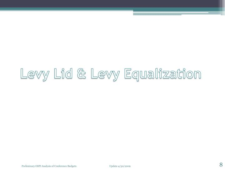 Levy Lid & Levy Equalization
