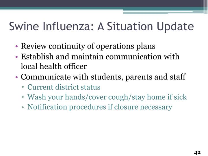 Swine Influenza: A Situation Update