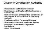 chapter 9 certification authority