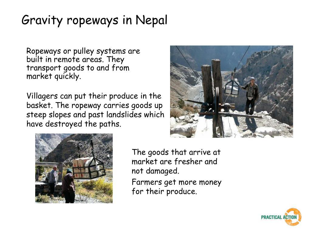 Gravity ropeways in Nepal