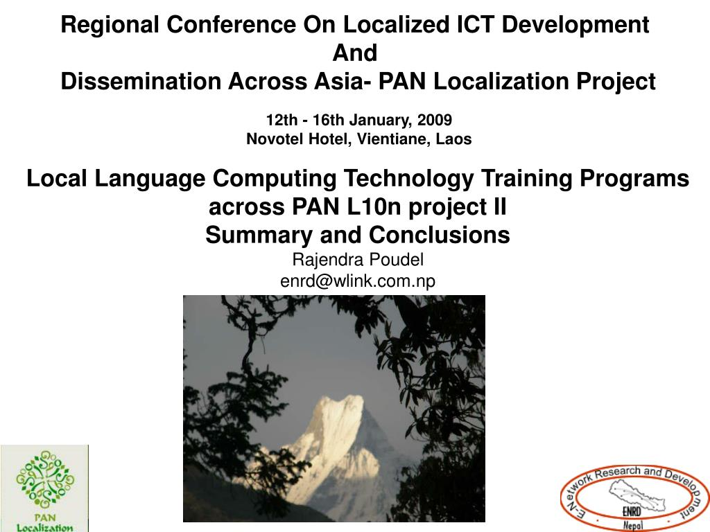 Regional Conference On Localized ICT Development