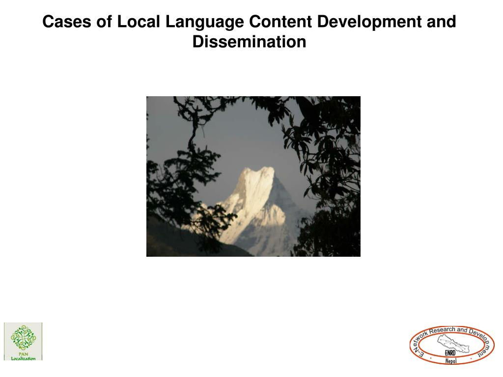 Cases of Local Language Content Development and Dissemination