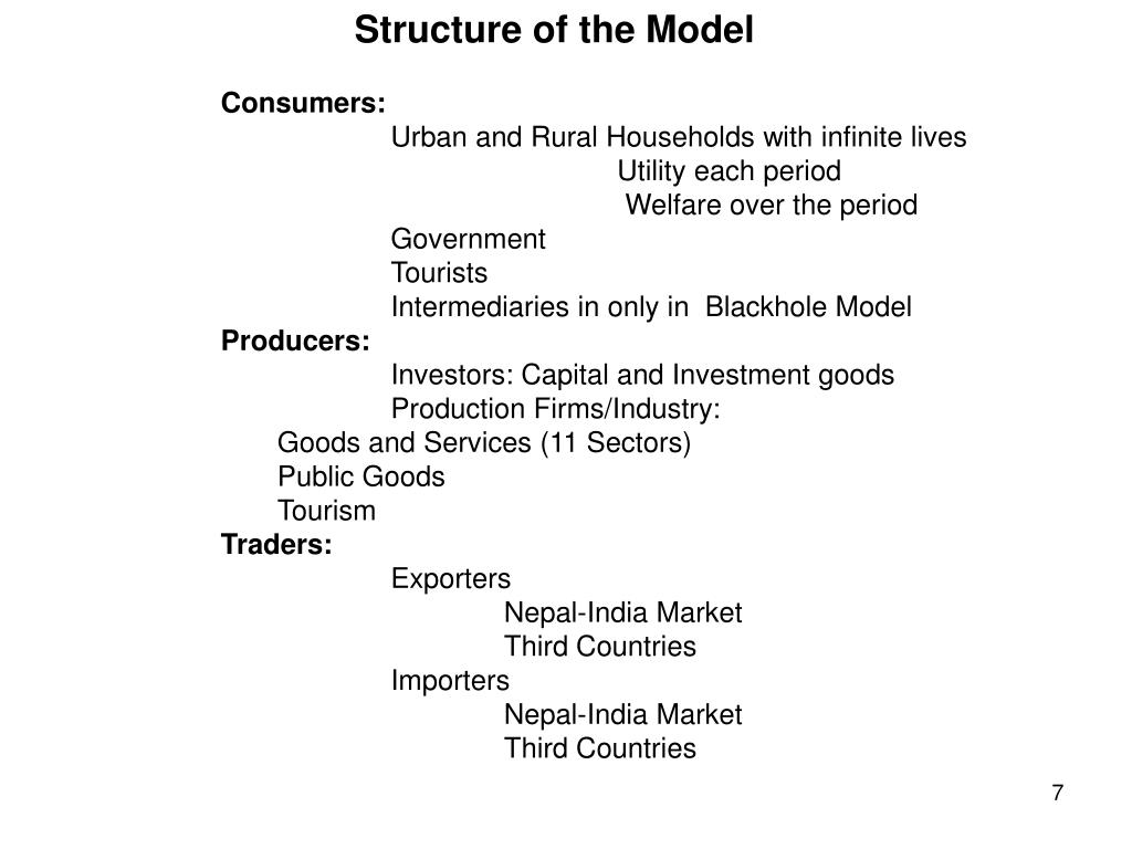 Structure of the Model
