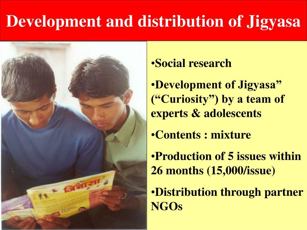 Development and distribution of Jigyasa