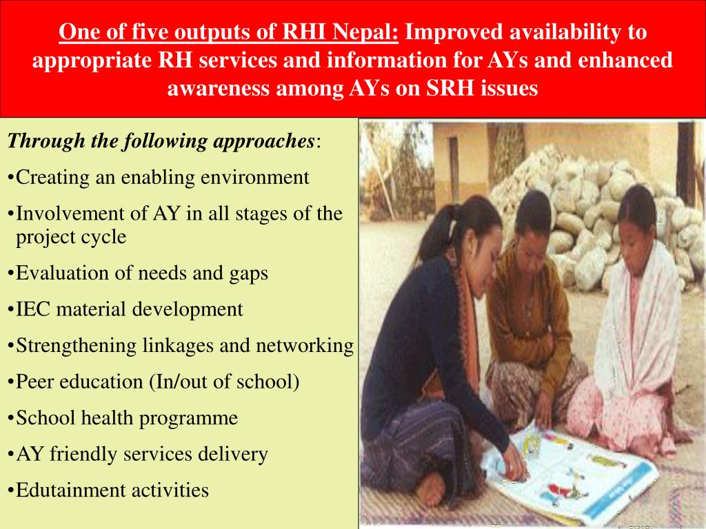 One of five outputs of RHI Nepal: