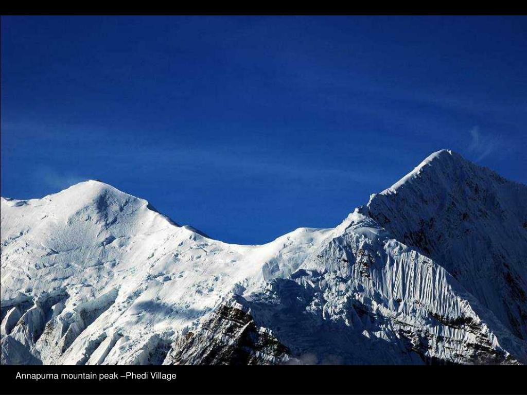 Annapurna mountain peak –Phedi Village