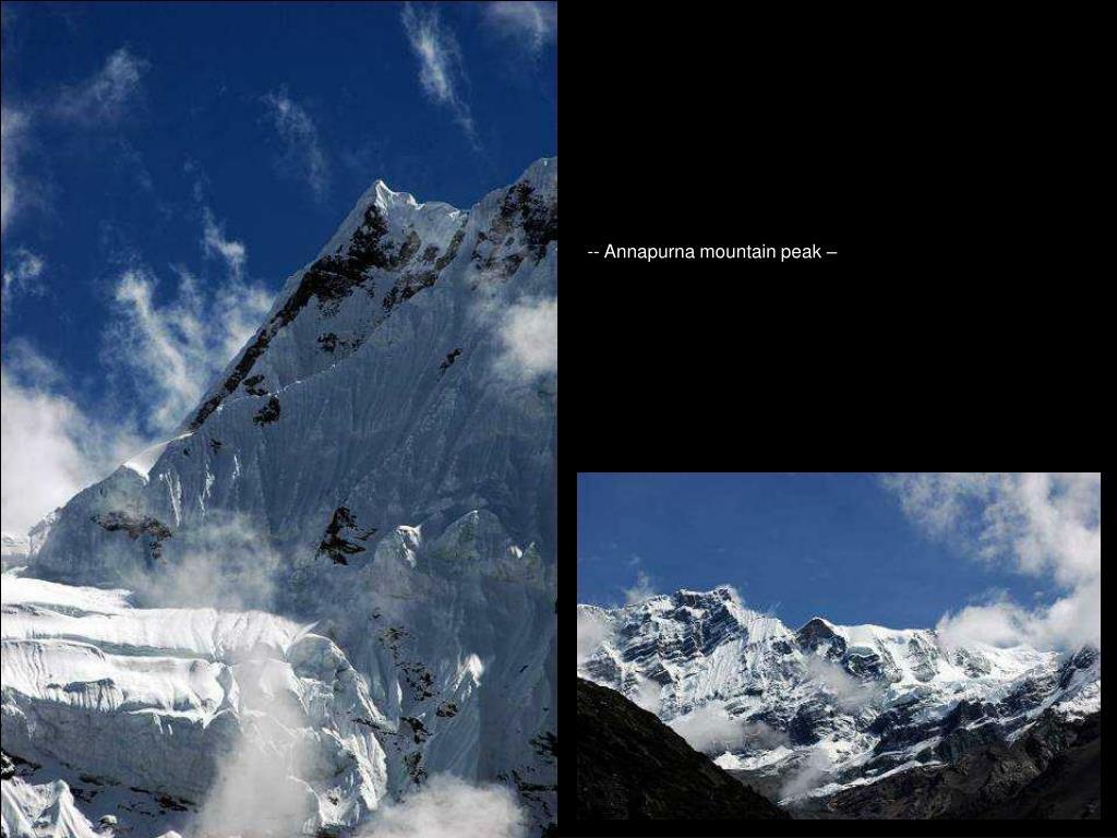 -- Annapurna mountain peak –