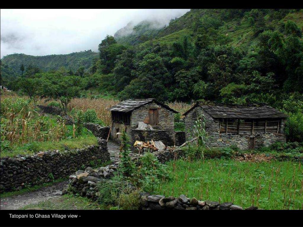 Tatopani to Ghasa Village view -