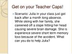get on your teacher caps