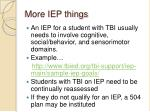 more iep things