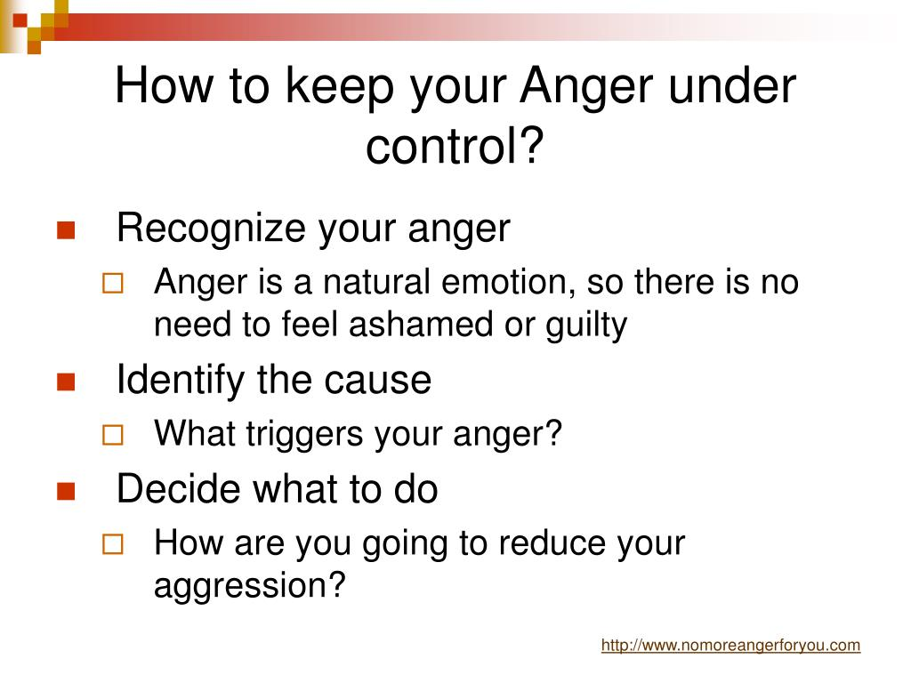 How to keep your Anger under control?