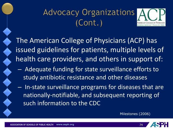Advocacy Organizations