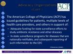 advocacy organizations cont1