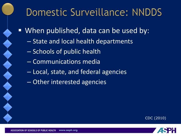 Domestic Surveillance: NNDDS