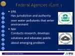 federal agencies cont