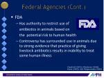 federal agencies cont1