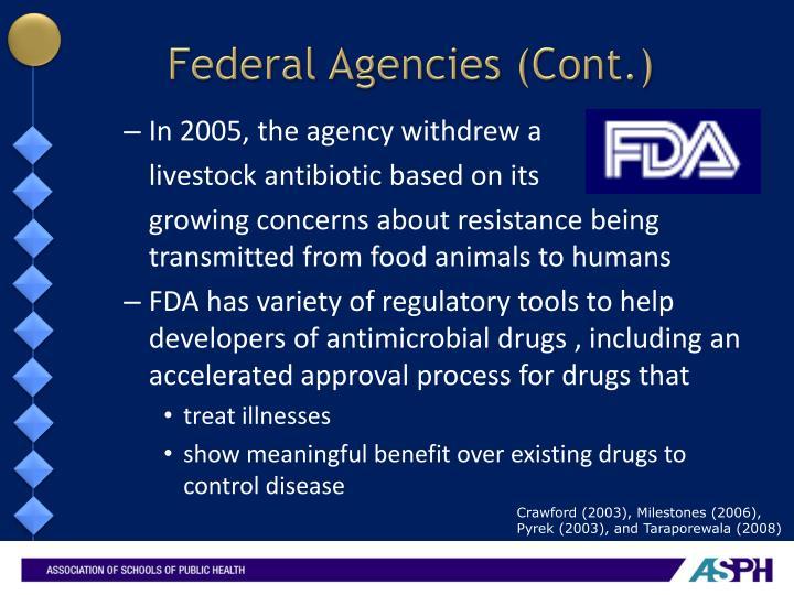 Federal Agencies (Cont.)