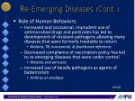 re emerging diseases cont