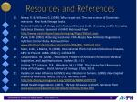 resources and references2