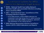 surveillance systems for mrsa methicillin resistant staph aureus