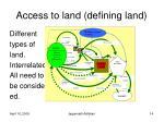 access to land defining land