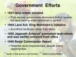 government efforts